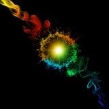 Kleurrijke rook Stock Foto
