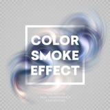 Kleurrijke rook op achtergrond Vector illustratie vector illustratie