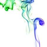 Kleurrijke rook op de witte achtergrond Stock Afbeeldingen