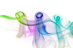 Kleurrijke rooksamenvatting Stock Foto