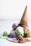 Kleurrijke Roomijslepels Royalty-vrije Stock Foto