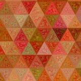Kleurrijke roze, oranje, groene, beige veelhoekige ononderbroken achtergrond Driehoekige veelhoeken in origamistijl met gradiënt vector illustratie