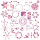 Kleurrijke roze symboolinzameling Vector Illustratie