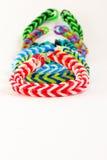 Kleurrijke rubberarmband Royalty-vrije Stock Foto