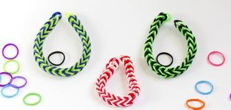 Kleurrijke rubberarmband Royalty-vrije Stock Afbeelding