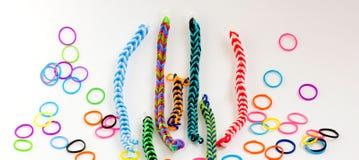 Kleurrijke rubberarmband Royalty-vrije Stock Foto's