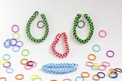 Kleurrijke rubberarmband Stock Afbeelding