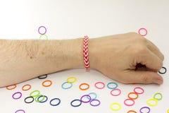 Kleurrijke rubberarmband Stock Fotografie