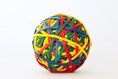 Kleurrijke rubberbal Royalty-vrije Stock Foto's