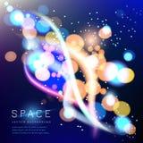 Kleurrijke ruimteachtergrond. Onscherpe samenvatting bokeh Royalty-vrije Stock Foto