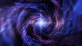 Kleurrijke Ruimtedraaikolk met de Motieachtergrond van Starfield Loopable