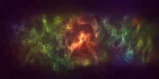 kleurrijke ruimtenevelachtergrond Royalty-vrije Stock Afbeeldingen