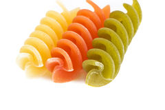 Kleurrijke ruwe fusillimacaroni Stock Fotografie