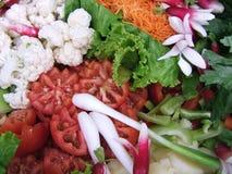 Kleurrijke saladeclose-up stock afbeelding