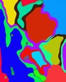 Kleurrijke Samenvatting 1 Stock Afbeeldingen
