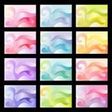 Kleurrijke samenvatting bacgrounds Stock Afbeeldingen