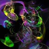 Kleurrijke samenvatting stock illustratie