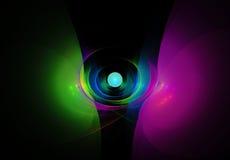 Kleurrijke samenvatting op zwarte achtergrond Royalty-vrije Stock Afbeeldingen