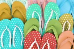 Kleurrijke sandals Royalty-vrije Stock Foto's