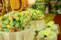 Kleurrijke Sandelhoutbloemen voor een begrafenis lokale ceremo van Thailand stock fotografie