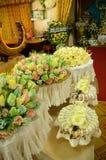 Kleurrijke Sandelhoutbloemen voor een begrafenis lokale ceremo van Thailand stock afbeeldingen