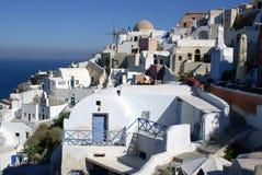 Kleurrijke Santorini Royalty-vrije Stock Afbeeldingen