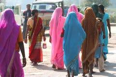 Kleurrijke saris Stock Fotografie