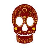 Kleurrijke schedel Stock Afbeelding