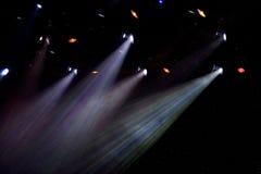 Kleurrijke schijnwerpers in theater Royalty-vrije Stock Foto