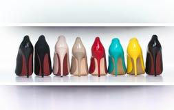 Kleurrijke schoenen Royalty-vrije Stock Foto's