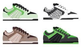 Kleurrijke schoenillustraties vector illustratie
