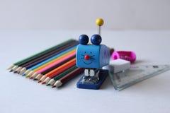 Kleurrijke schoolbehoeften royalty-vrije stock afbeelding