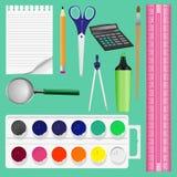 Kleurrijke schoollevering, illustratie Royalty-vrije Stock Foto