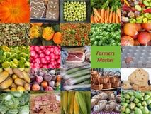 Kleurrijke schoonheid van een landbouwersmarkt Stock Afbeeldingen