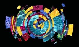 Kleurrijke sferische abstractie Stock Foto's