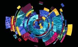 Kleurrijke sferische abstractie Royalty-vrije Stock Foto
