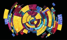 Kleurrijke sferische abstractie Royalty-vrije Stock Foto's