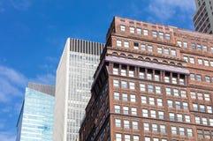 Kleurrijke skyscrappers in New York, de V.S. Royalty-vrije Stock Afbeeldingen