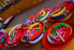 Kleurrijke slingers Stock Foto's