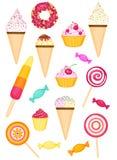 Kleurrijke smakelijke reeks Stock Fotografie