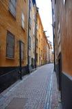Kleurrijke Smalle Steeg Stock Foto's
