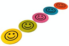 Kleurrijke smileys Stock Fotografie