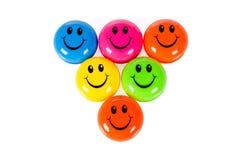 Kleurrijke smileys Royalty-vrije Stock Afbeelding