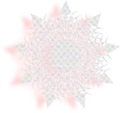 Kleurrijke sneeuwvlok Royalty-vrije Stock Afbeeldingen