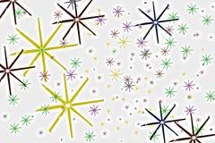 Kleurrijke sneeuwvlokken royalty-vrije stock foto's