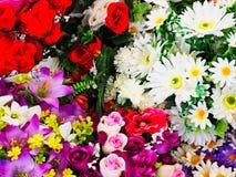 Kleurrijke Snijbloembossen voor Verkoop royalty-vrije stock afbeeldingen
