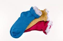 kleurrijke sokken Stock Foto's