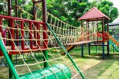 Kleurrijke speelplaats stock foto