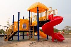 Kleurrijke speelplaats voor kinderen royalty-vrije stock foto