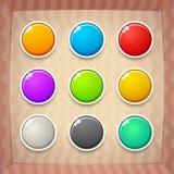 Kleurrijke Spelknopen royalty-vrije illustratie